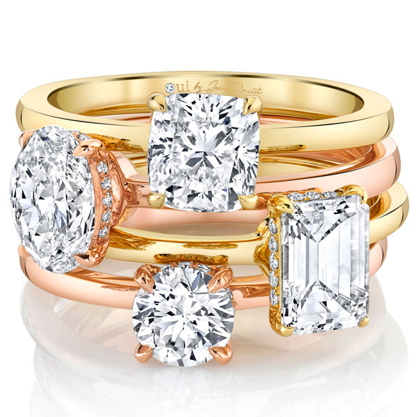 Oui by Jean Dousset solitaire engagement rings