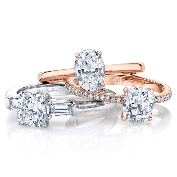 Oui by Jean Dousset three stone engagement rings