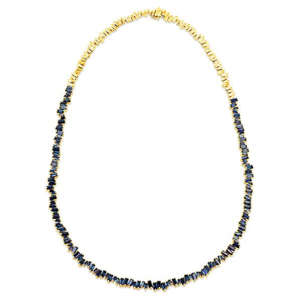 Suzanne Kalan sapphire tennis necklace