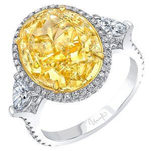 Uneek yellow diamond ring