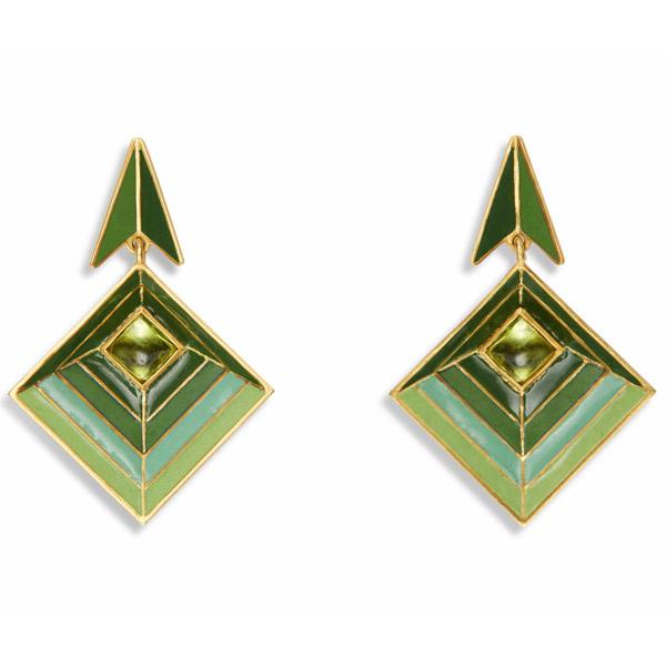 Van Gelder peridot earrings