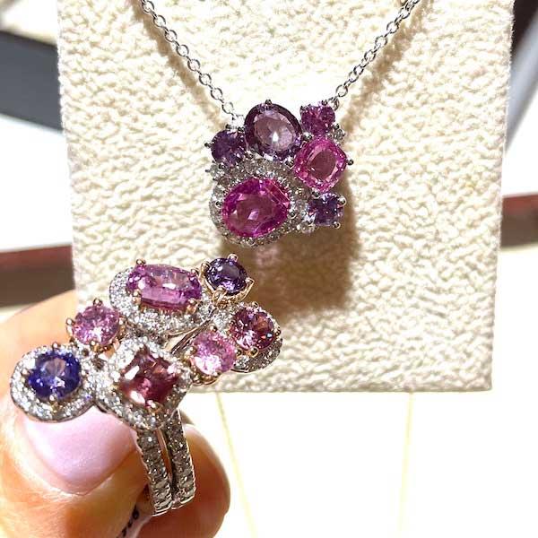 Yael Designs cluster sapphire jewelry