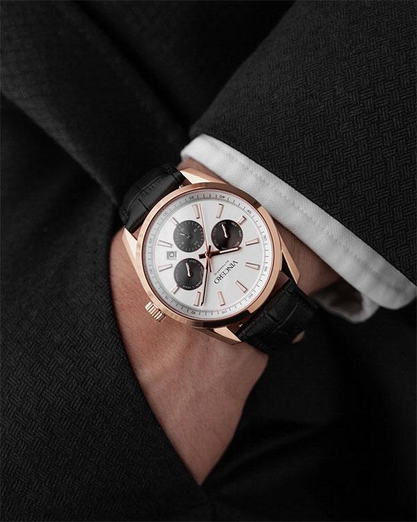 Vincero rose gold watch