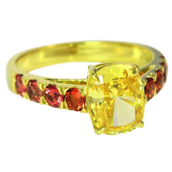 Alison Nagasue yellow diamond ring