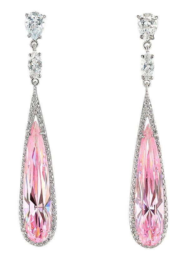 Anabela Chan Pink Sapphire Earrings
