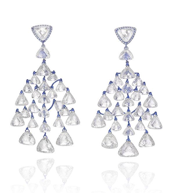 Chopard diamond titanium earrings