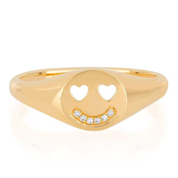 EF smiley ring