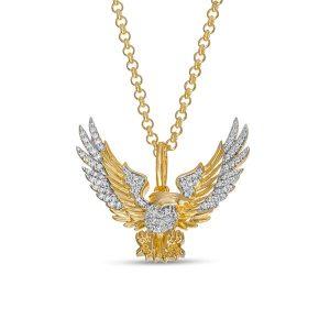 Elvis Presley Collection Men's 1.3 CT. T.W. Diamond Flying Eagle Pendant in 10K Gold $1,629.00