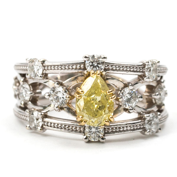 Ellie Lee yellow diamond ring