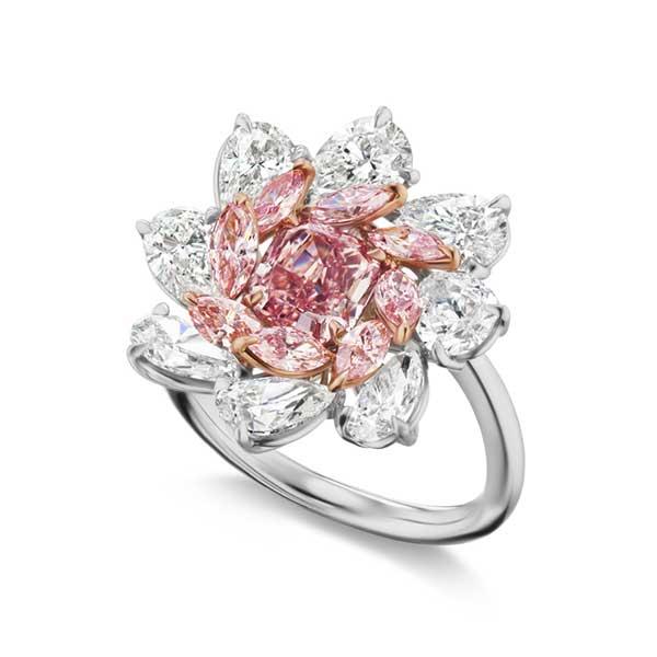 Gems of Note pink diamond ring
