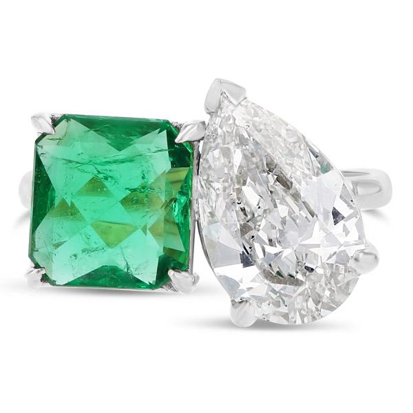 Grace Lee emerald diamond ring