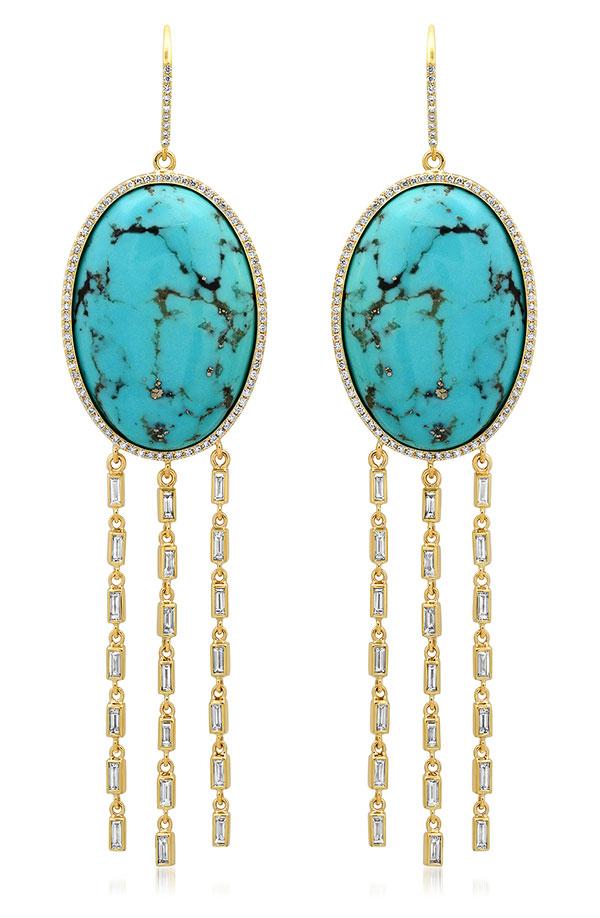 Jennifer Meyer turquoise earrings