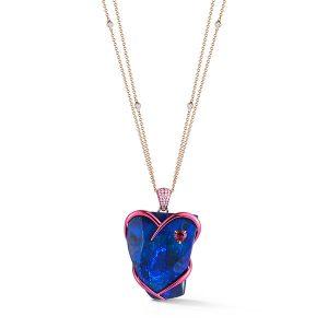 Katherine Jetter Graffiti opal pendant