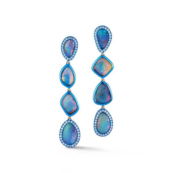 Katherine Jetter opal long earrings