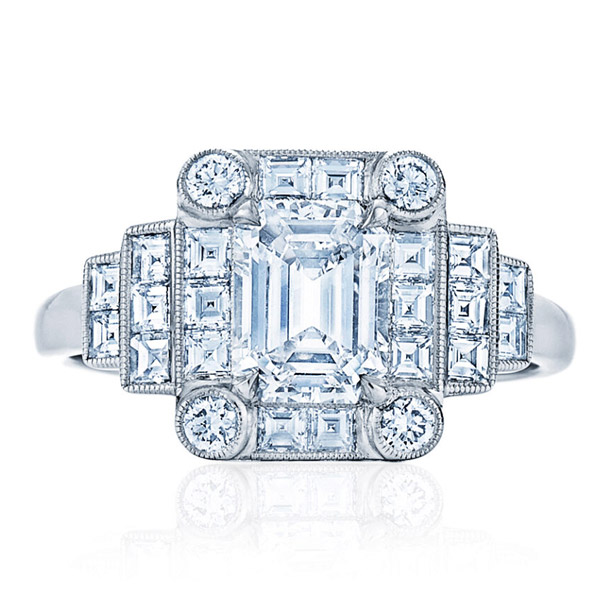 Kwiat vintage style engagement ring