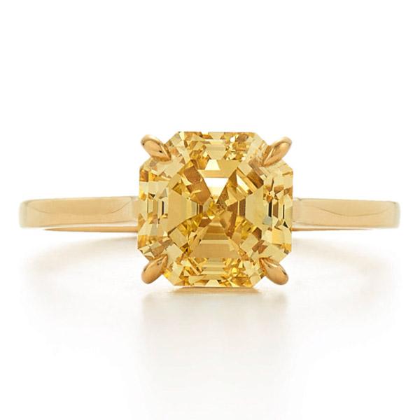 Kwiat yellow diamond ring