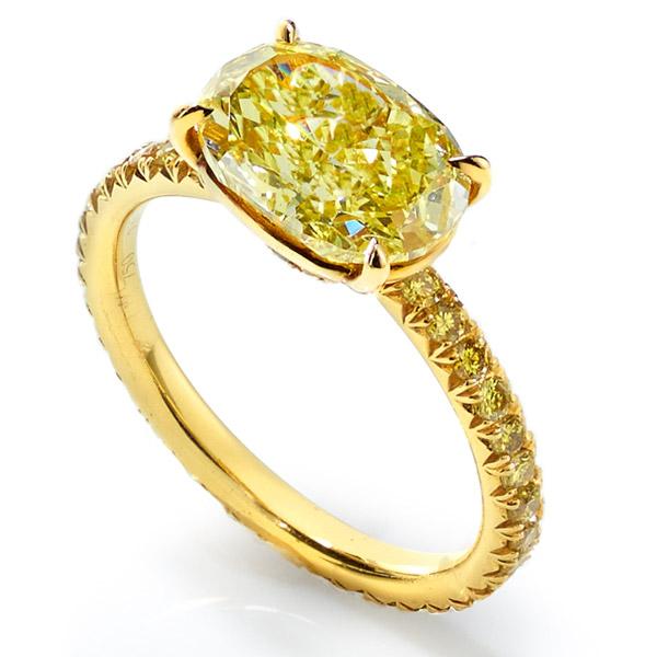 Lauren Addison yellow diamond ring
