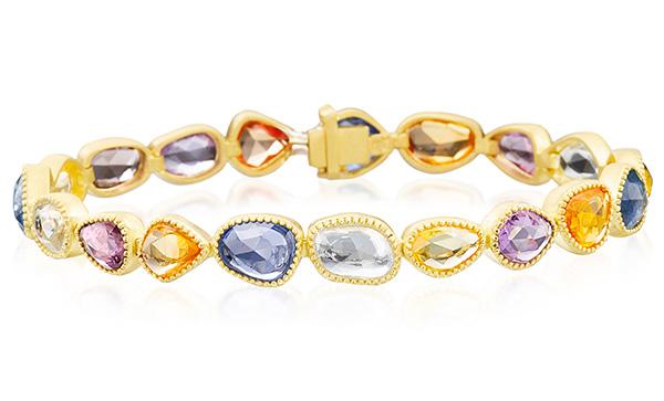 Lauren K rosecut sapphire bracelet
