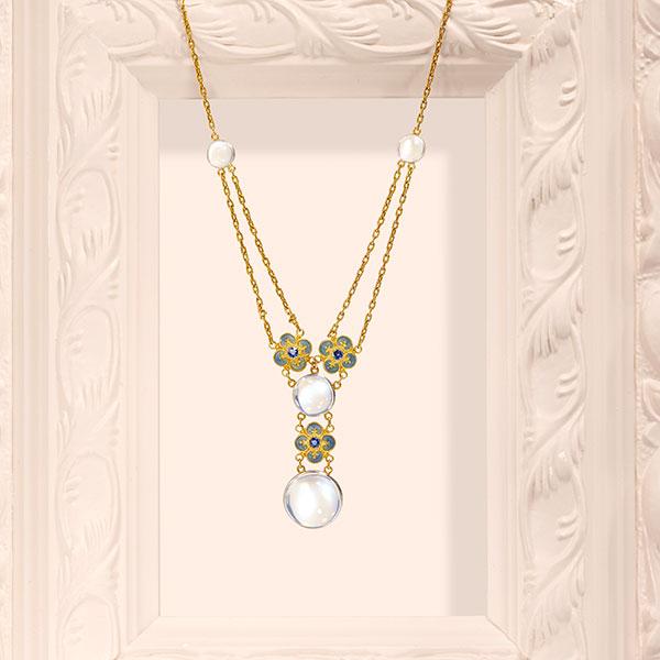 Louis Comfort Tiffany moonstone necklace
