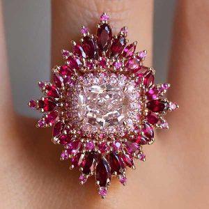 Maggi Simpkins in bloom ring close up