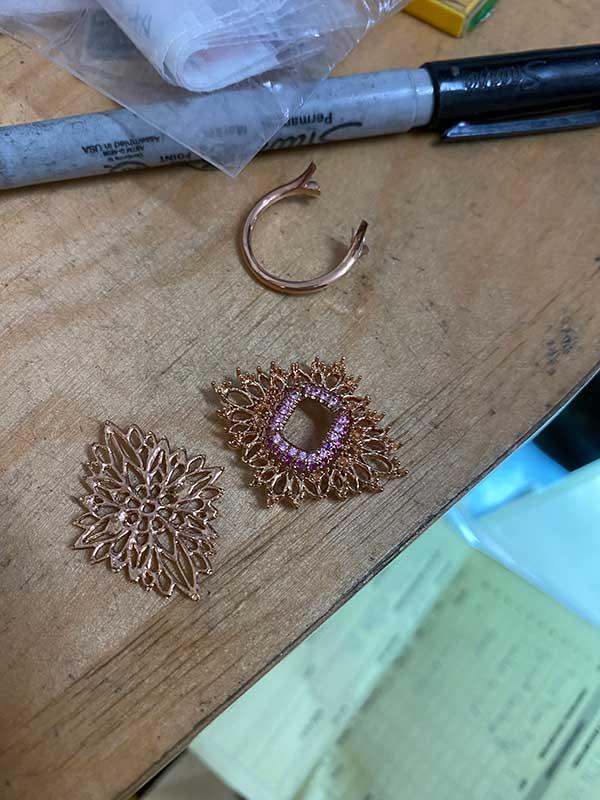 Maggi Simpkins in bloom ring in progress