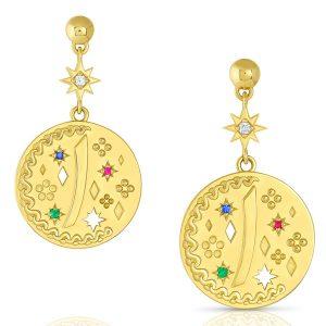 Mazahri Yak Coin earrings