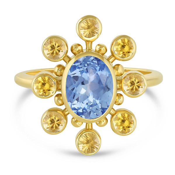 Mazahri sapphire cosmos ring