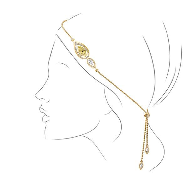 Messika Paris yellow diamond headpiece