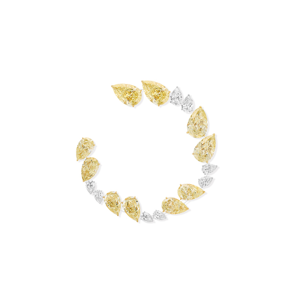 Messika yellow diamond hoop