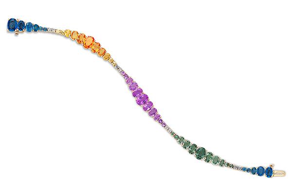 Nicole Rose rainbow sapphire ombre bracelet