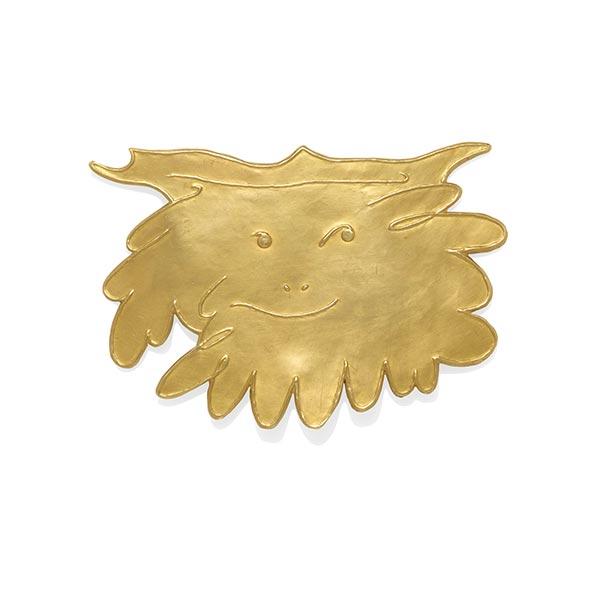 Pablo Picasso gold Grand Faune pendant