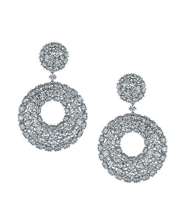Rafka Dreamcatcher diamond earrings
