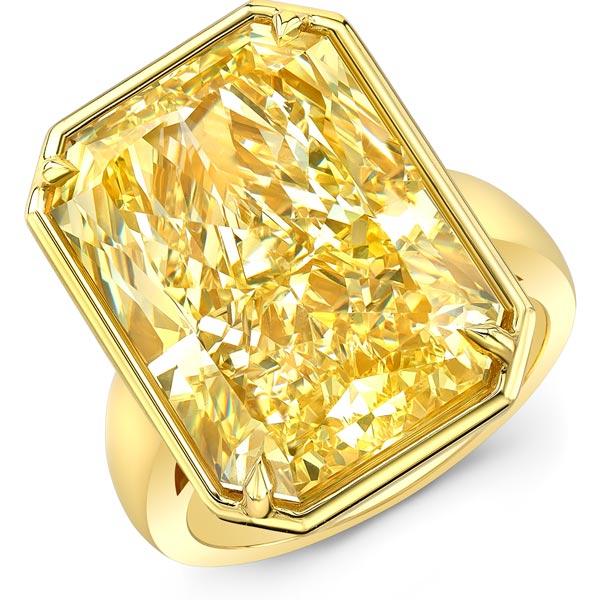 Rahaminov yellow diamond ring