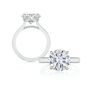 Forever Diamonds NY engagement ring in platinum with 4 cts. t.w.