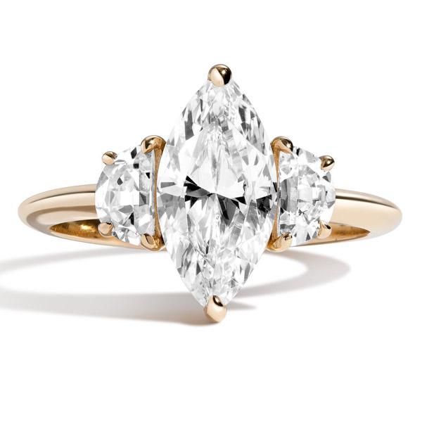 Shahla Karimi marquise engagement ring