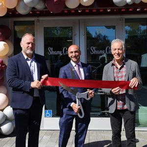 Hank Inderlied, Shane Co. Cupertino Store Manager; Rordan Shane, President & CEO; and Tom Shane, Owner
