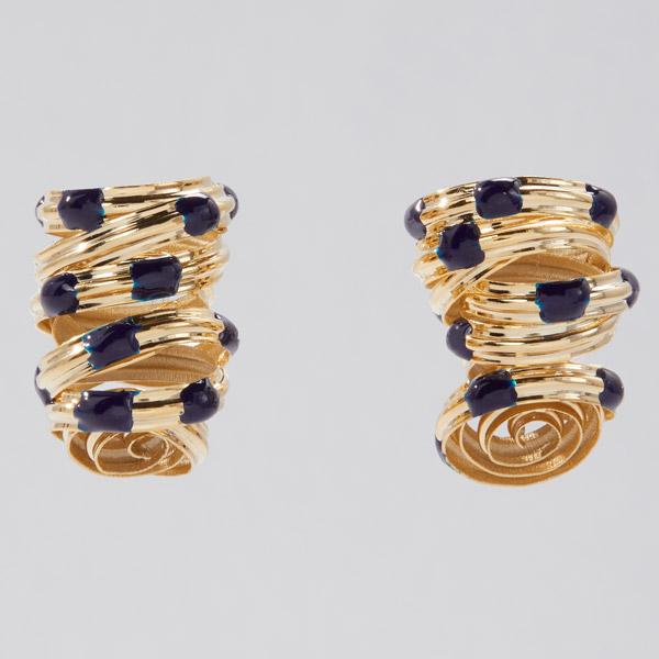 Sole Studio Cocoon blue earrings