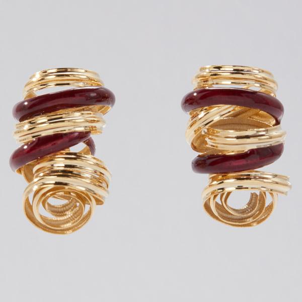 Sole Studio Cocoon burgundy earrings