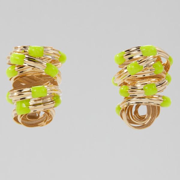 Sole Studio Cocoon yellow earrings