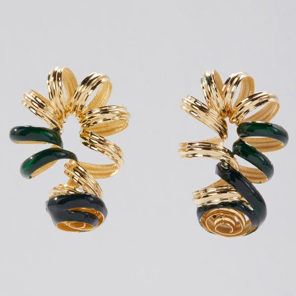 Sole Studio Doodle green earrings