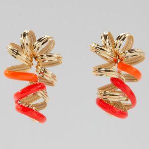 Sole Studio Doodle orange earrings