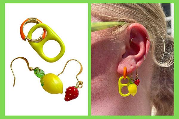 Svedka Bonbonwhims earrings