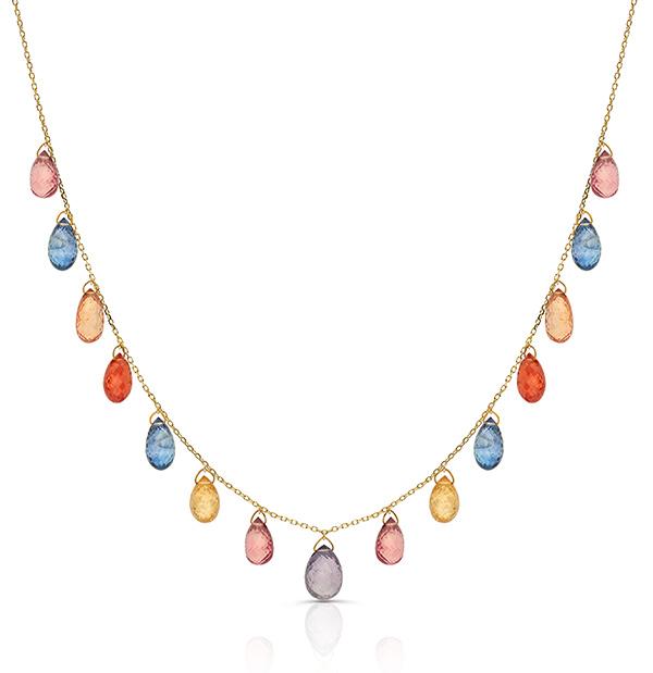 Tresor sapphire briolette necklace