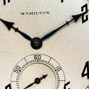 Vortic's Lancaster watch features the Hamilton Watch Company's pocket watch in its design.
