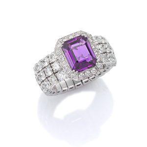 Xpandable Purple Sapphire ring