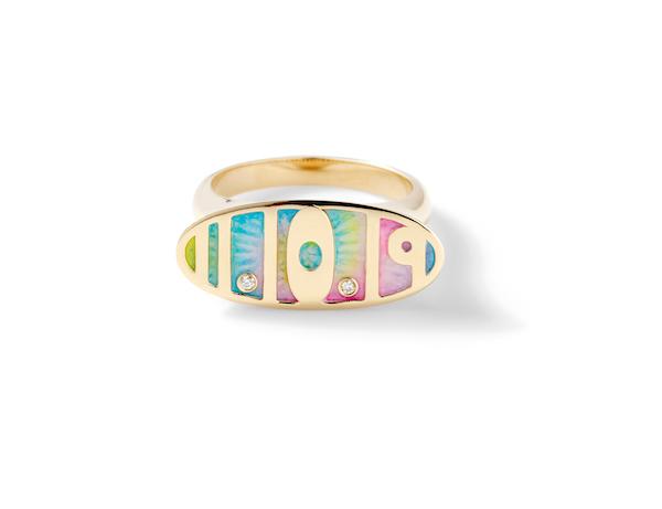 Alison Lou tie dye ring