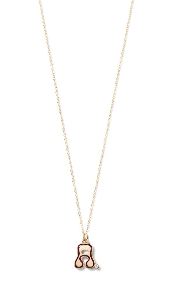 Alison Loui groovy letter necklace