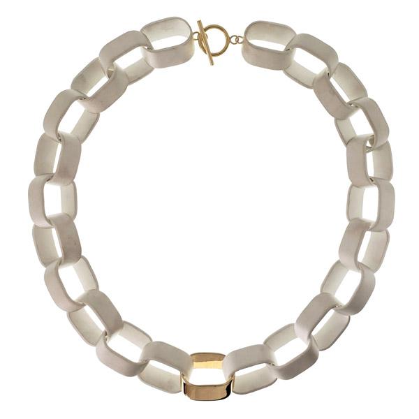 Alison Nagasue sliced link necklace