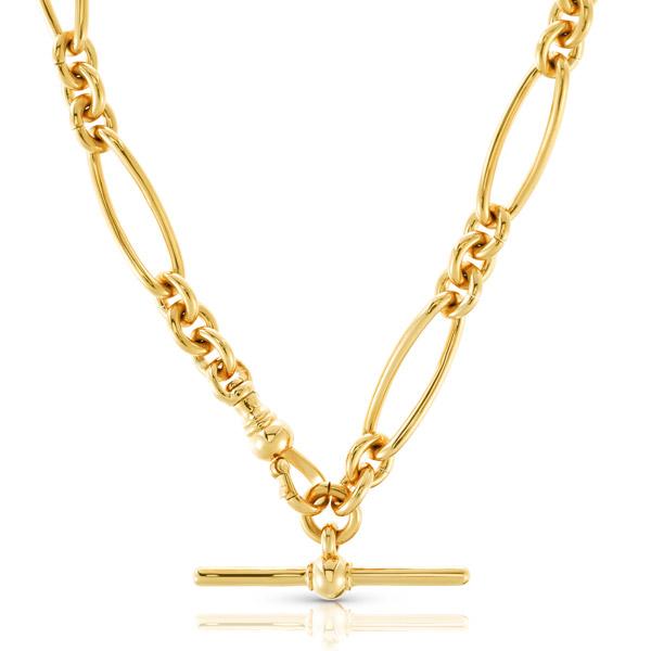 Carbon Hyde antique link necklace
