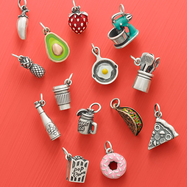 Some of the most popular charms relate to food